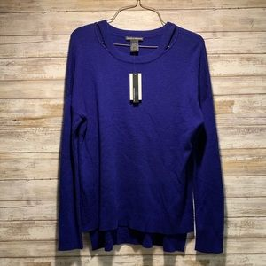 SOLD Chelsea & Theodore Blue Cashmere Sweater M